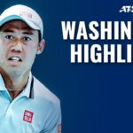 Nishikori Gets Underway; Sock & Nishioka Battle to Face Nadal | Washington 2021 Highlights Day 1