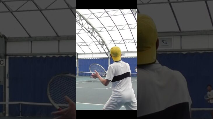 ジョコビッチ並みのスーパードロップショットを目の前で決められる【テニス】 #Shorts