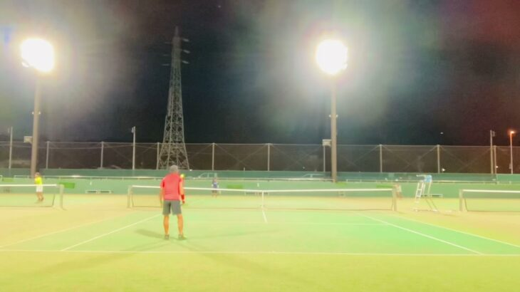 【TENNIS】Singles 1SET×2   (練習試合:木村VS須藤)小田原テニスガーデン2021.8.18