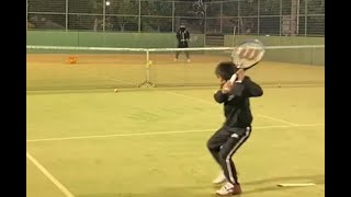 【Tennis-練習風景】フェデラー級のBackHand!-2021.8.1
