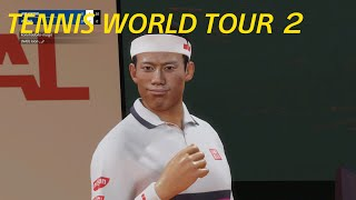 【Tennis World Tour 2】PS5,4K 錦織 圭 vs ラファエル・ナダル 今月のフリープレイ【テニスワールドツアー2】