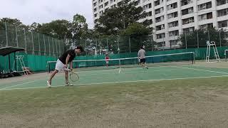【Tennis/テニス】Doubles match (ごぼう・Carry vs 仙人・俊足)