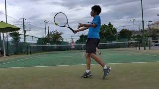 【Tennis/テニス】Doubles match practice/ダブルスゲーム練習