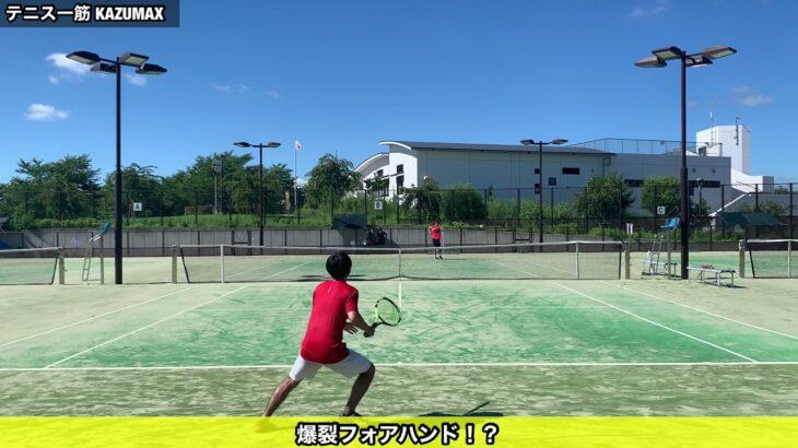 テニス [moment] 爆裂!?フォアハンド #shorts