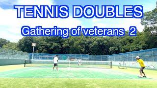 【 テニス ダブルス/tennis doubles 】(4K映像) 男子ガチ!ダブルス試合2