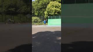 ブランクがある人の【テニスサーブあるある】難しい……..(tennis)#Shorts