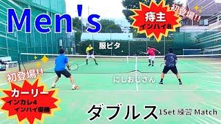 【テニス】初登場のカーリーと痔主に圧倒されるおじさん!!男子ダブルス!!