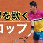 【テニス戦術】錦織圭|予測不可能なドロップショット|スーパープレイ