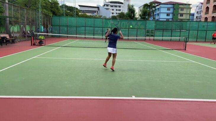 【テニス】11歳女子 ミニラリーと振り回しラリー練習 Tennis practice with Head Courch since Lockdown…!!!