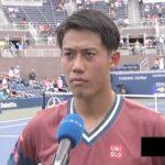 錦織圭インタビュー(1回戦終了後コートサイド)/全米オープンテニス2021【WOWOW】
