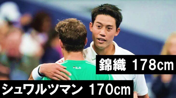 【テニス】身長170cm台のスター選手 4選
