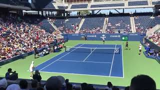 2019 USOPEN Kei Nishikori Novak Dokovic practice TENNIS