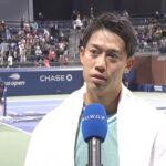 錦織圭インタビュー(2回戦終了後コートサイド)/全米オープンテニス2021【WOWOW】
