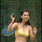 倉科カナ テニス すばらしいラケットさばき Beautiful girl play tennis