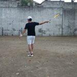 <『F N TENNIS CONSULTING』<CEO>>2021/9/18(土)17:50~18:30【TENNIS】壁テニスで約2ヶ月半ぶりの打球(ストローク)『CAMERA(2)』4/7