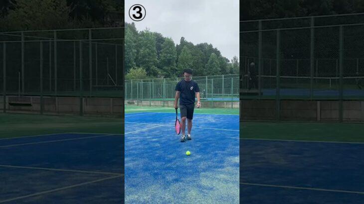 ボールの拾い方あるあるHARDのNG #Shorts #Tennis #NG #テニス