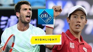 Kei Nishikori 錦織圭 vs Cameron Norrie Highlights Citi Open 2021