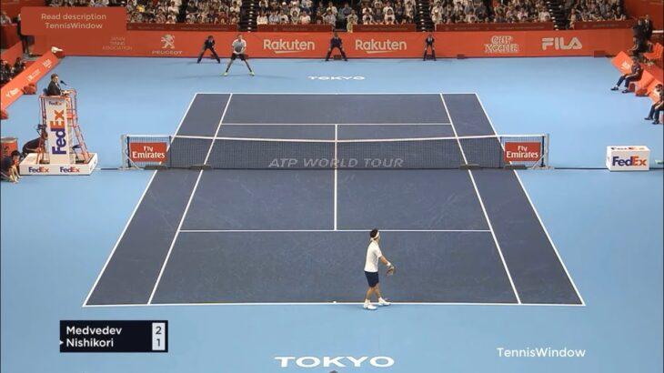 Nishikori (錦織) VS Medvedev (メドベージェフ)