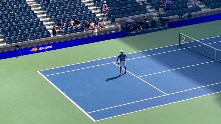 ジョコビッチサーブレシーブ練習!錦織選手との試合直前 Novak Djokovic practice 2021 US Open