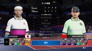 PS4 / Tennis World Tour 2 /プレイ動画No.3 「トーナメント :錦織圭 第1戦 −   ③