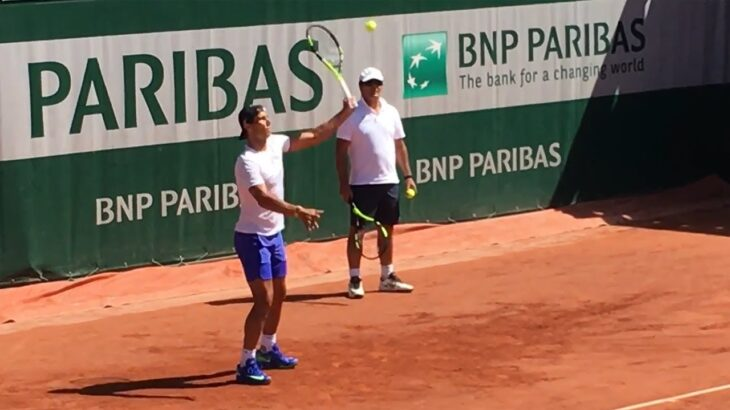 Rafael Nadal practice【Roland Garros 2017】 ナダルの練習 全仏オープン2017