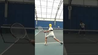 【テニス】なんでクルっと一回転したのか自分でも分からない #Shorts