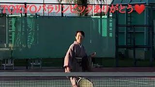 着物でテニスやってみた!☆TOKYO 2020 感動☆