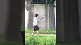【テニス】フェデラー好きの壁打ち #shorts #federer  #tennis