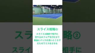 片手バックスライスでのハメ方#shorts #tennis #テニス