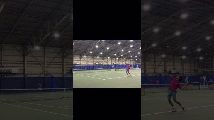 サーブからの展開   #tennis #テニス #sports #youtube #trending #video