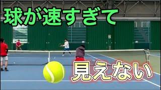 【tennis/ダブルス】球が速すぎて🎾ボール見えない【MSKテニス】58
