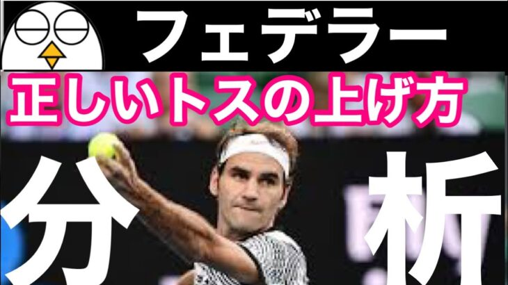 【テニス】ロジャーフェデラーのサーブ分析|正しいトスの上げ方|スライスサーブ