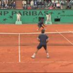 フェデラー vs モンフィス 全仏オープン 08 (コートレベル)