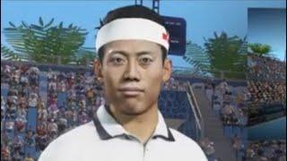 テニス初心者が錦織圭選手とテニスしたら鬼畜すぎたww