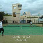 2021/09/25 ESe vs ASa 01【テニスダブルスTie break】