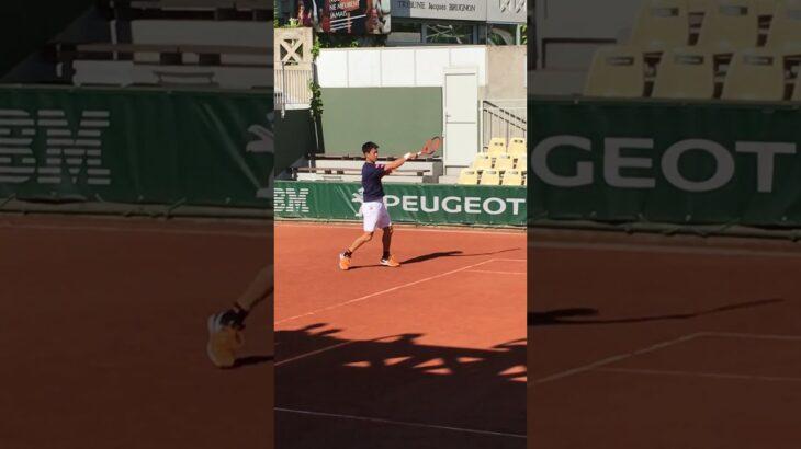 Kei Nishikori practice【Roland Garros 2017】 錦織圭の練習 全仏オープン2017 #Shorts