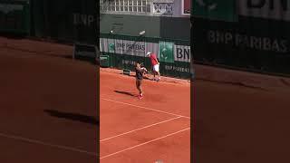 Kei Nishikori practice【Roland Garros 2018】 錦織圭の練習 全仏オープン2018 #Shorts