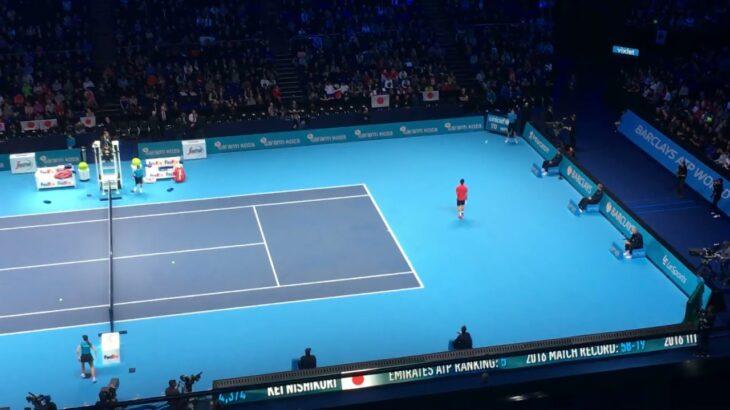 Kei Nishikori vs Marin Cilic【ATP Finals in London 2016】 錦織vsチリッチ ATPファイナルズ2016