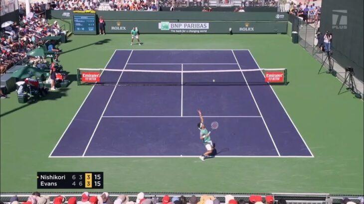 Kei Nishikori vs. Daniel Evans – Highlights | Indian Wells 2021 錦織圭h